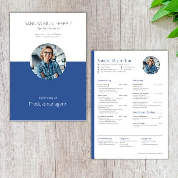 Lebenslaufvorlage FFM Executive BLUE_Produktbild