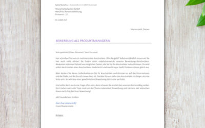 Bewerbung: Das Bewerbungs-Anschreiben richtig gestalten