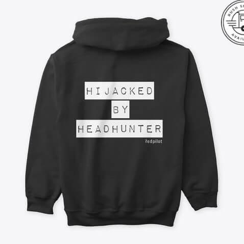 Premium Hoodie hijacked by headhunter black designed by redpilot