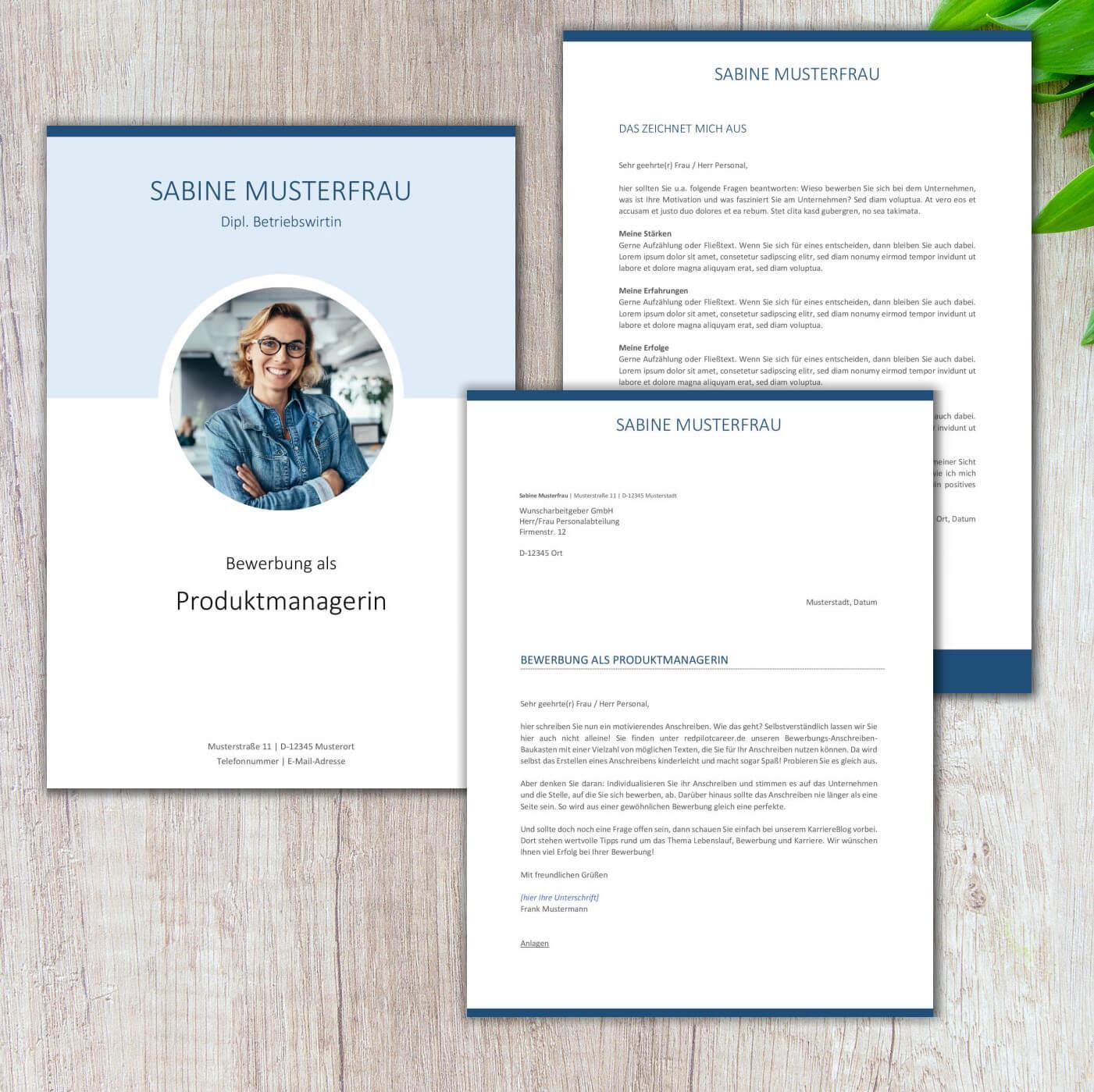 CV Lebenslauf Barcelona Executive Blue